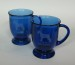 Engraved glass cafe mugs