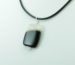 White and Black Agate Pendant Necklace for Photo Engraving