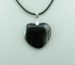 Black Onyx Agate Pendant Necklace for Photo Engraving
