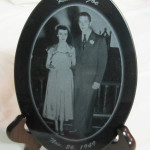 Photo Engraved Oval Marble Plaque